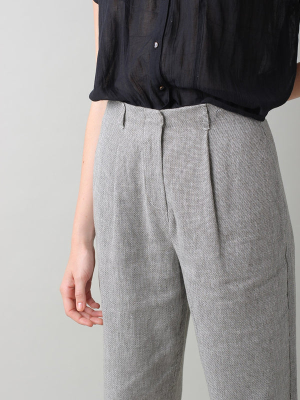 Indi & Cold Linen Trousers in Piedra