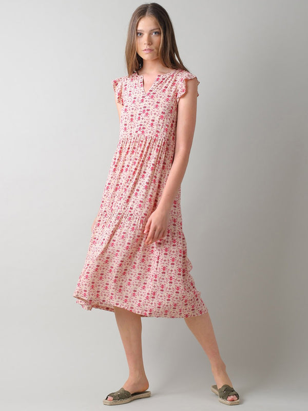 Indi & Cold Printed Clara Dress in Cherry