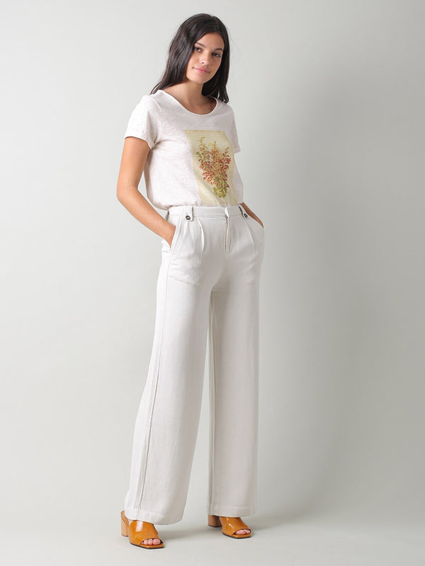 Indi & Cold Fluid Long Trousers in Crudo