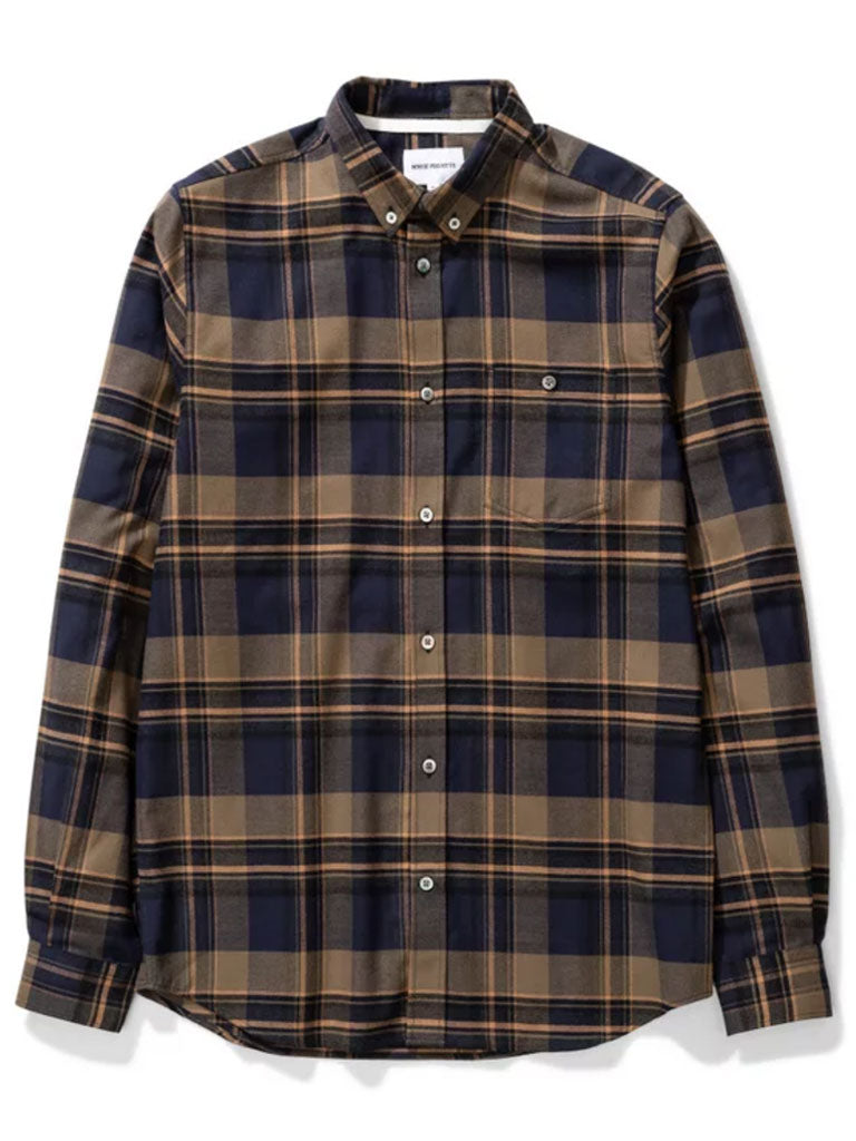 Norse Projects Anton Check Shirt in Ivy Green