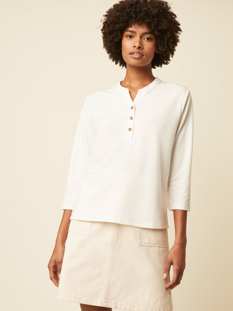 Great Plains Savona Top in Milk
