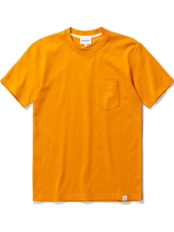 Norse Projects Johannes Pocket T-Shirt in Cadmium Orange