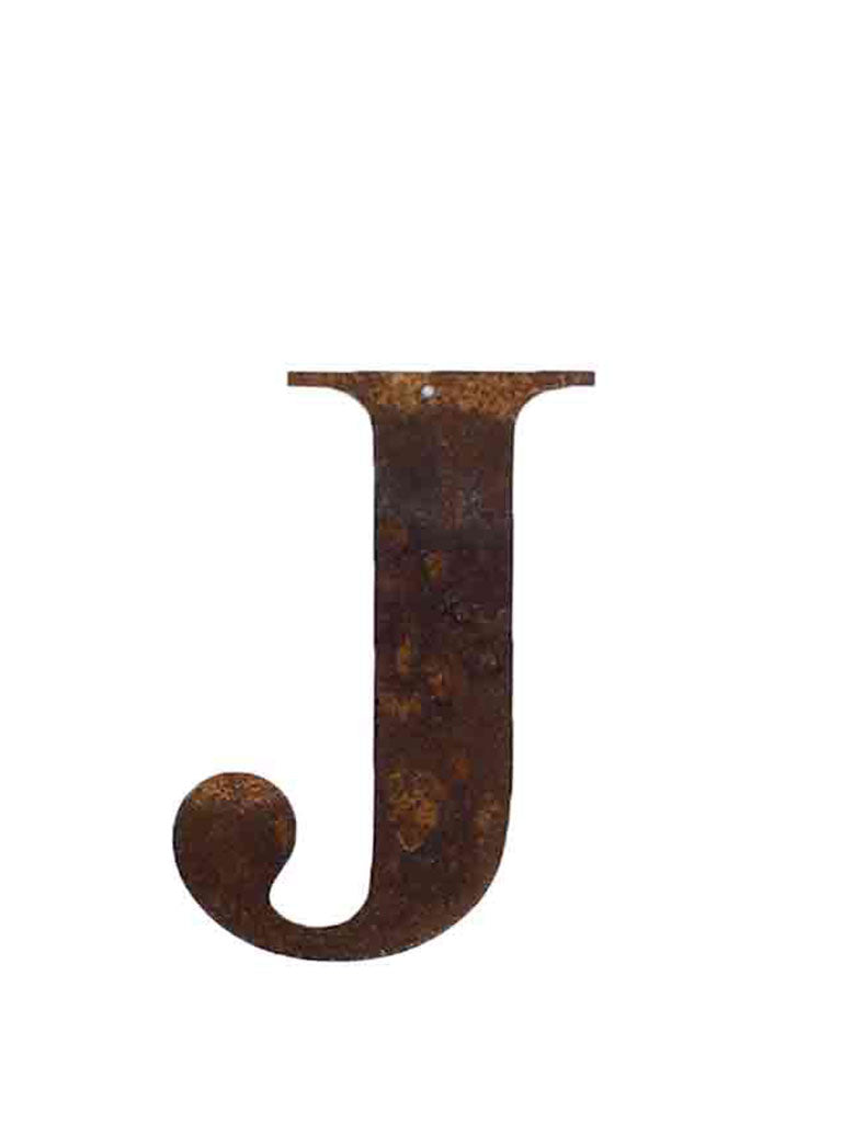 Re-found Objects Rusty Letters J