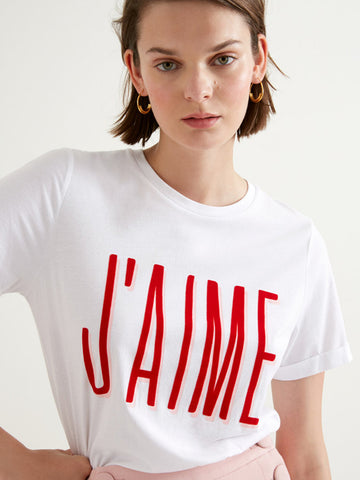 Suncoo Melrose T-Shirt in Blanc Casse