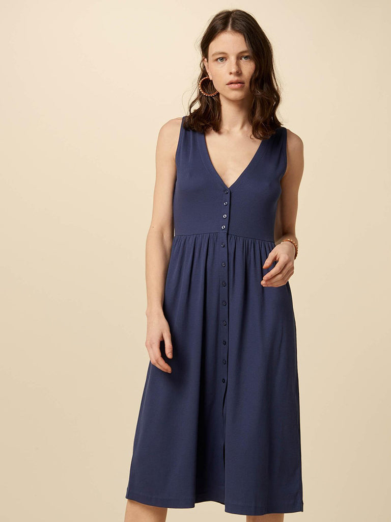 Sessun Keel Jersey Dress in Blue Marlin