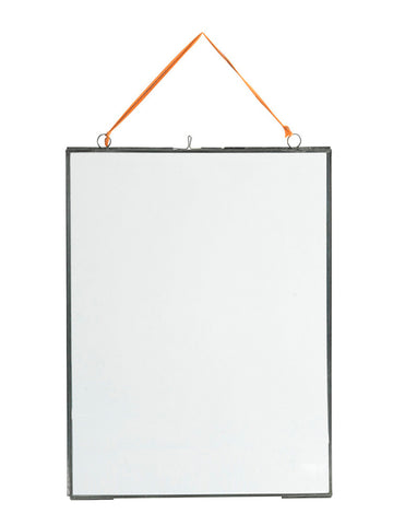Nkuku Large Portrait Frame in Zinc