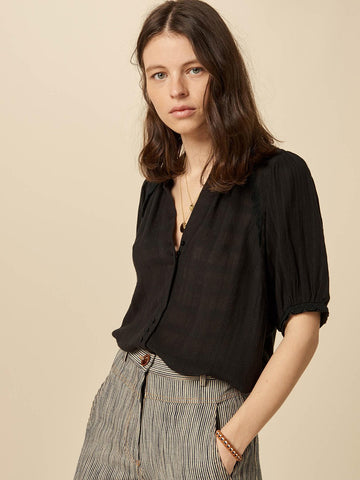 Sessun Kiminzo Blouse in Black