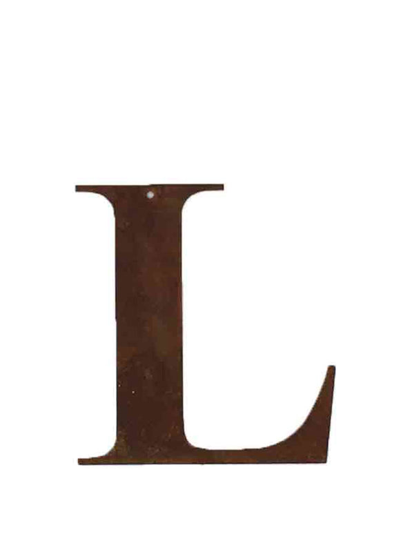 Re-found Objects Rusty Letters - L