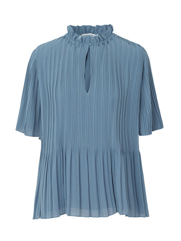 Samsoe & Samsoe Lady Blouse in Blue Mirage