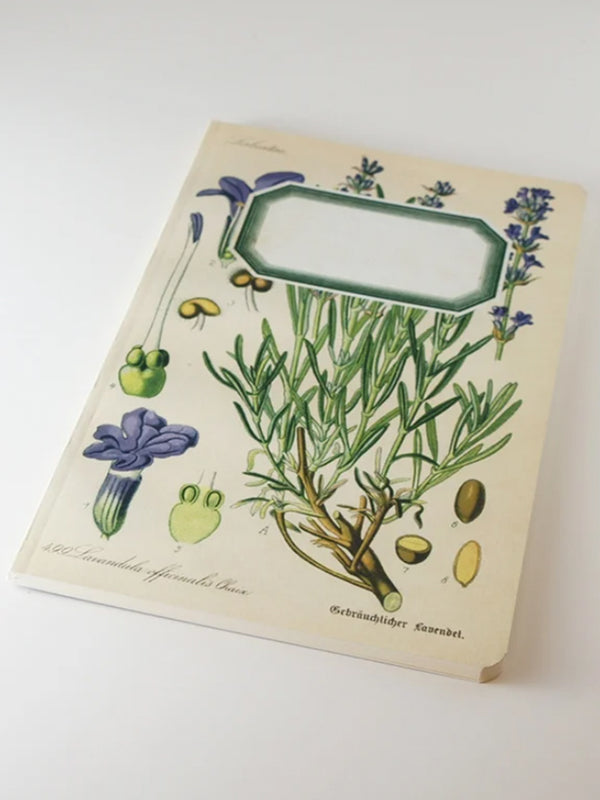 We Act Lavender Botanical Notebook