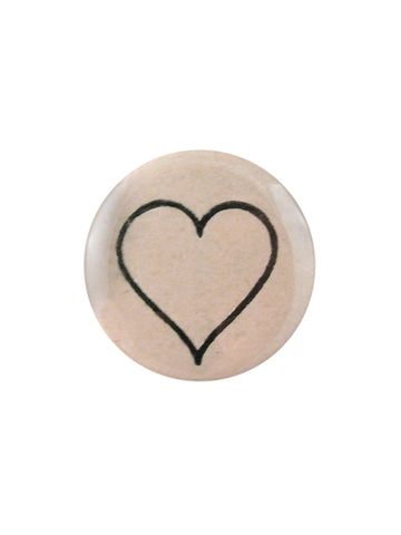 John Derian Line Heart Pocket Mirror