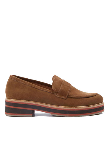 Nice Things Suede Loafer in Cinnamon