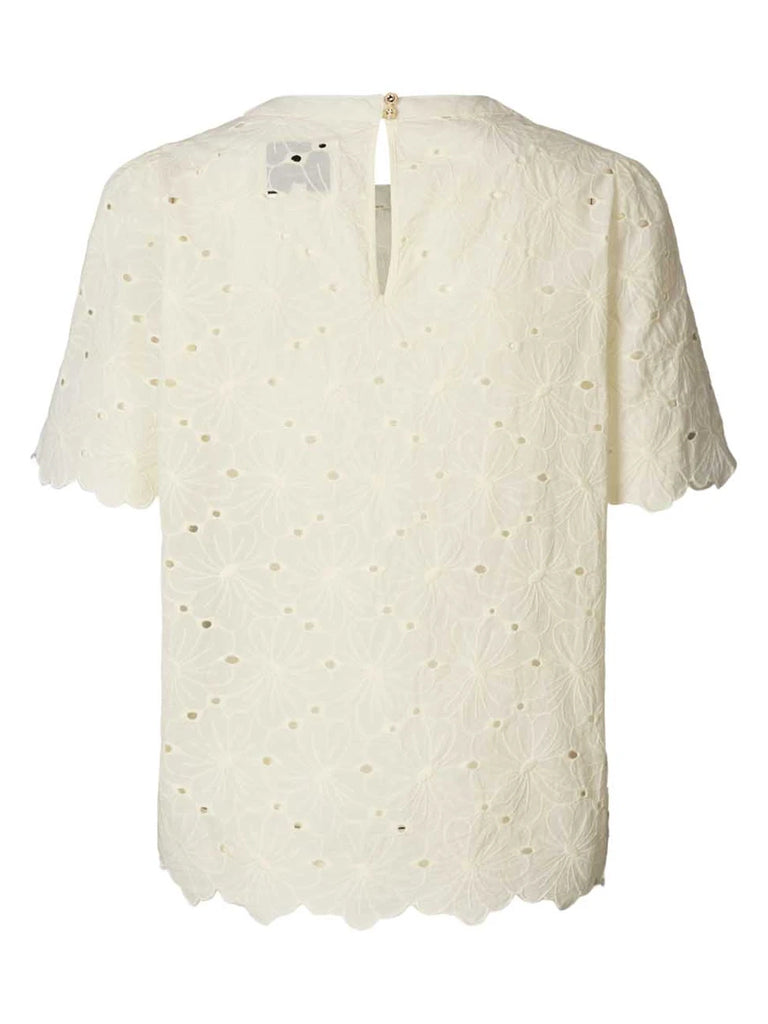Lolly's Laundry Christina Floral Top in Cream