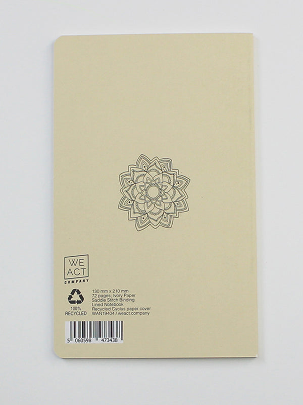 We Act Lotus Dictionary Art Notebook