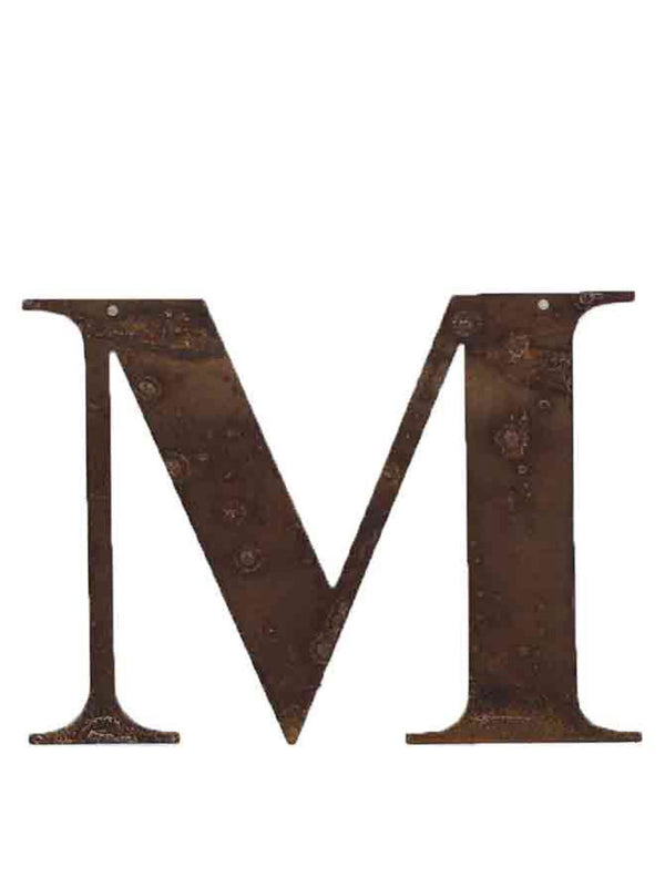 Re-found Objects Rusty Letters - M