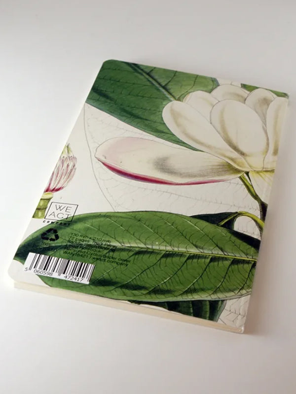 We Act White Magnolia Botanical Notebook