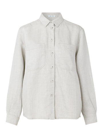 Samsoe & Samsoe Manz Shirt in Warm White