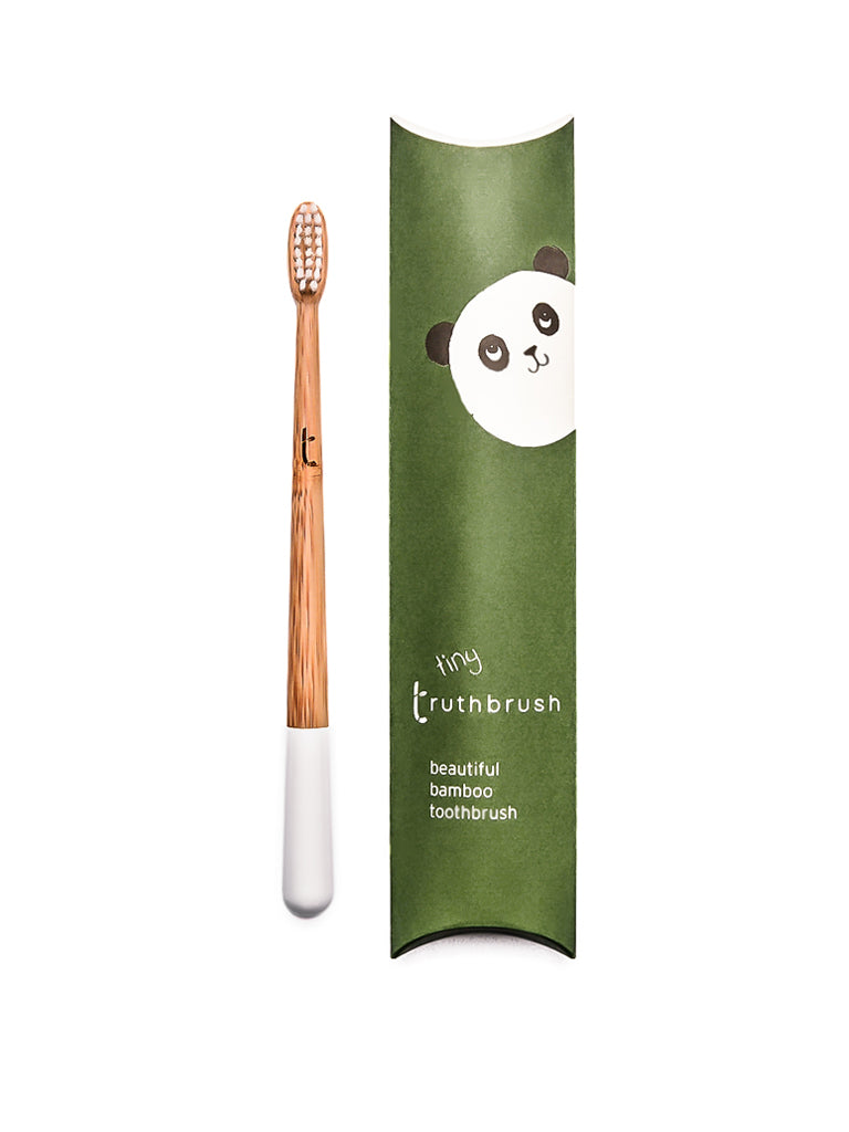 Tiny Bamboo Toothbrush for Kids in Cloud White