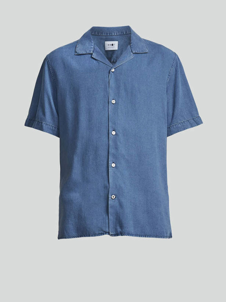 NN07 Miyagi Denim Shirt in Light Blue