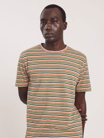 YMC Wild Ones Stripe T-Shirt in Multi
