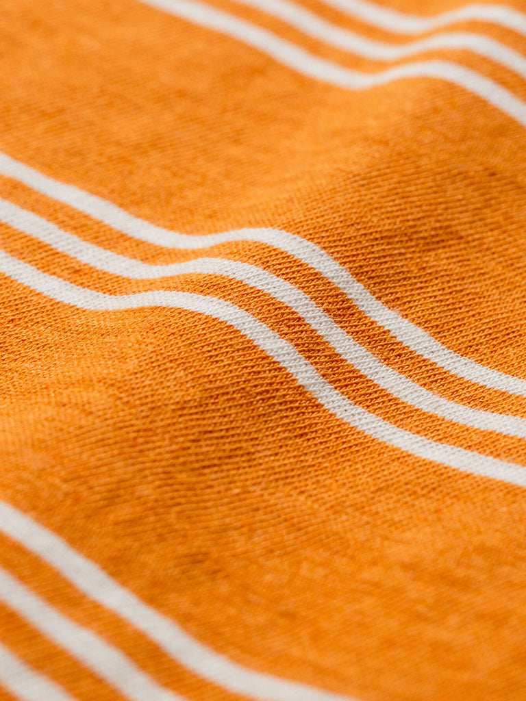 Norse Projects Johannes Stripe T-Shirt in Cadmium Orange