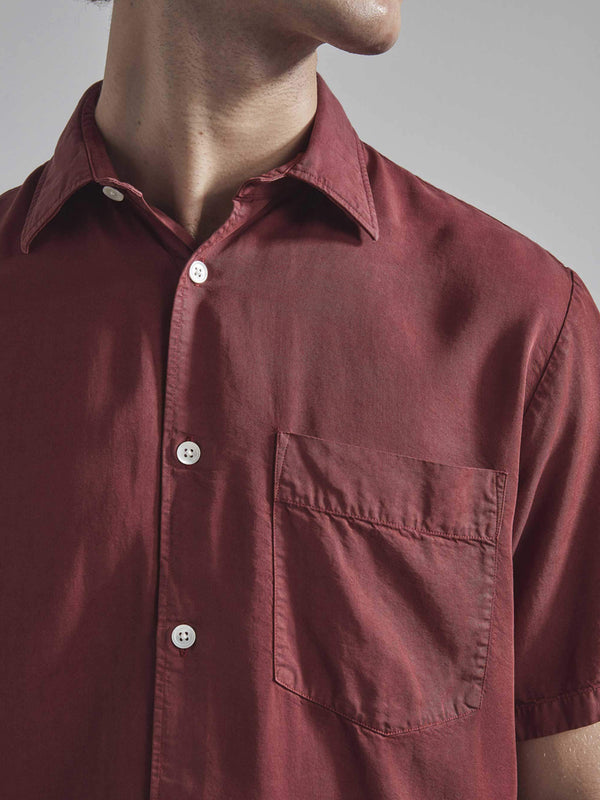 NN07 Errico Shirt in Burnt Red