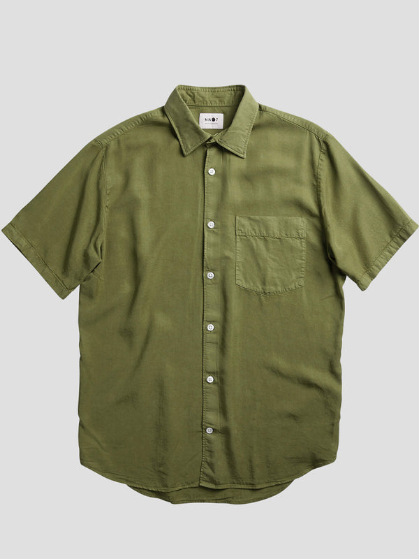NN07 Errico Shirt in Leaf Green