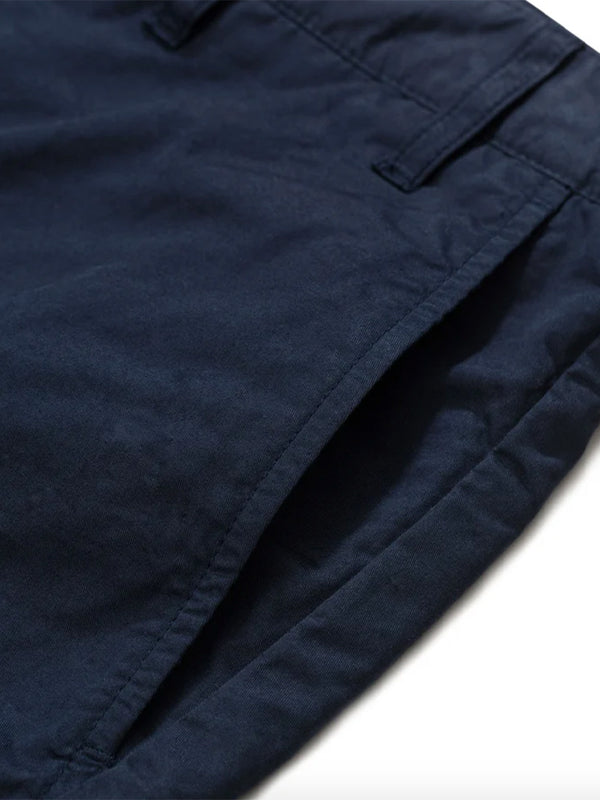 Norse Projects Aros Twill Shorts in Dark Navy