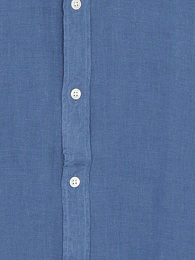 Hartford Sammy Linen Shirt in Ocean