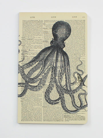 We Act Octopus Dictionary Art Notebook