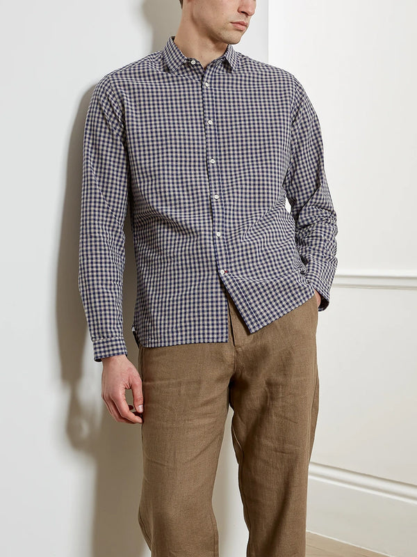 Oliver Spencer Clerkenwell Tab Shirt in Philis Blue