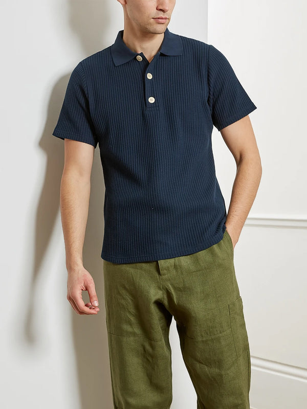Oliver Spencer Tabley Polo Shirt in Pavis Navy