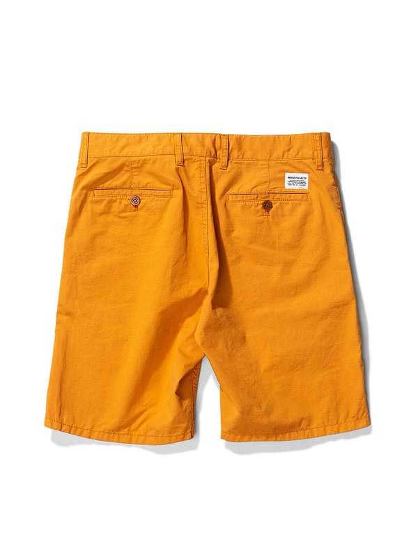 Norse Projects Aros Twill Shorts in Cadmium Orange