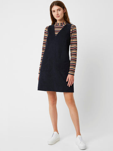 Great Plains Orlando Cord Dress in Space Navy