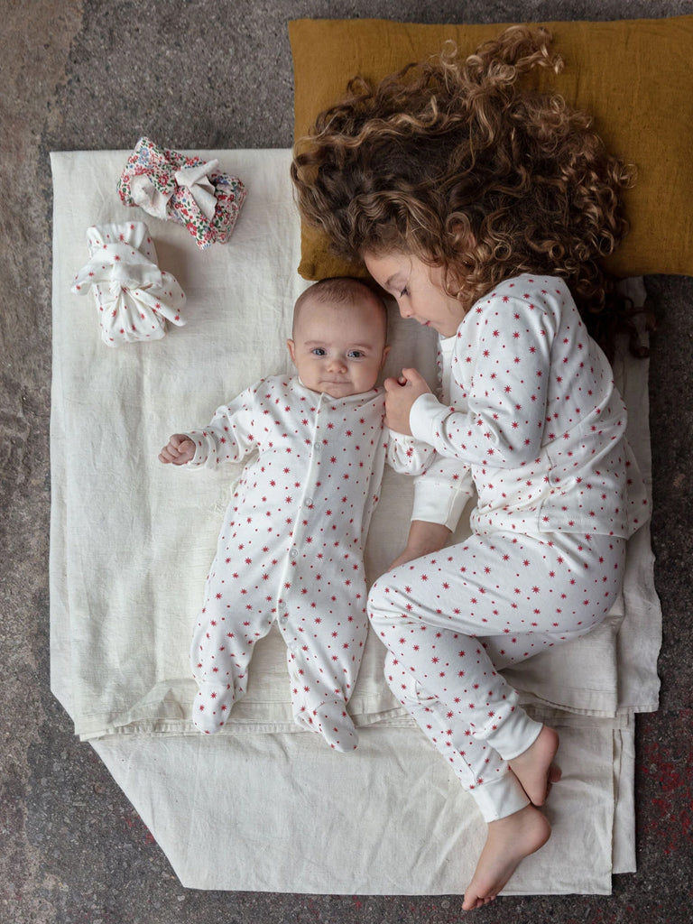 Sleepy Doe Kids Classic PJ Set in Winter Star