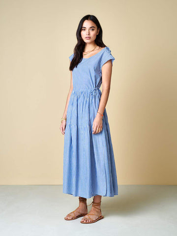 Bellerose Pasua Dress in Blue & White