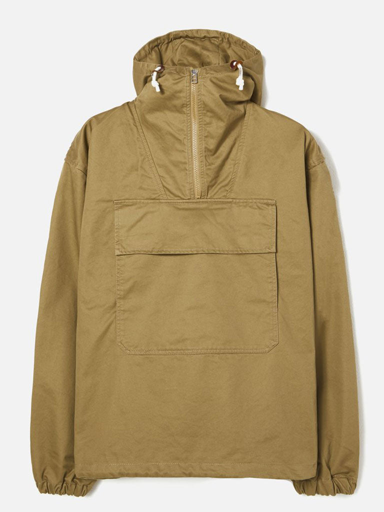Universal Works Anorak in Mustard Rainproof Cotton