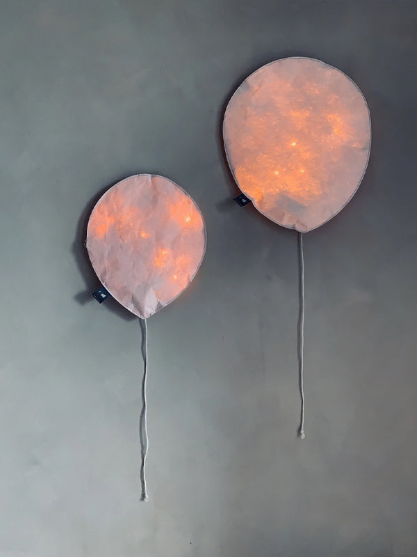 Large Balloon Light in Blush Pink