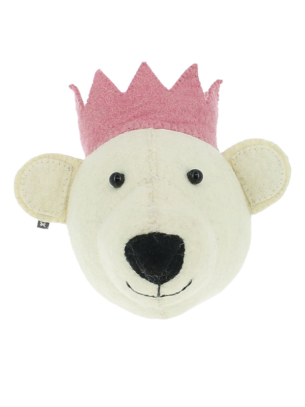 Fiona Walker Mini White Bear with Pink Crown