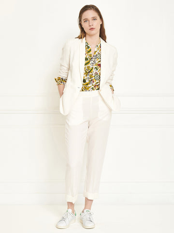 MKT STUDIO Pizaro Crop Trouser in Cream