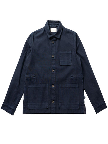 Folk Plinth Jacket in Navy