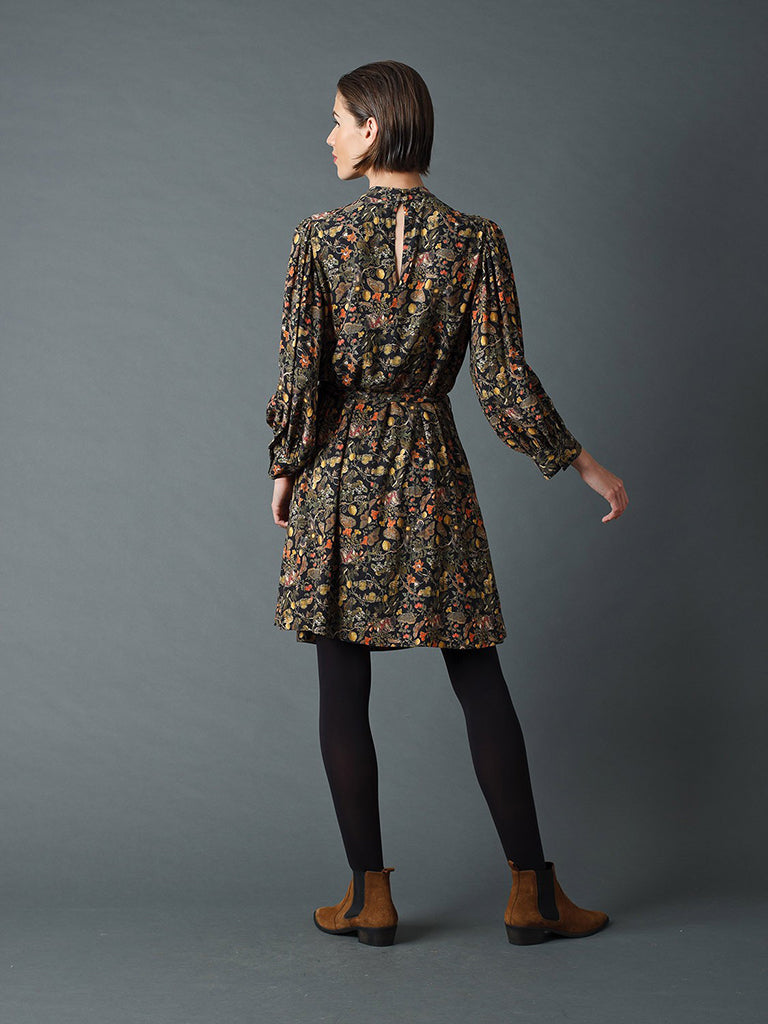 Indi & Cold Baroque Dress in Black