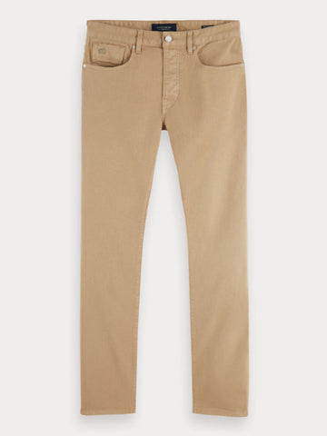 Scotch and Soda Ralston Garment Dyed Jeans in Sand