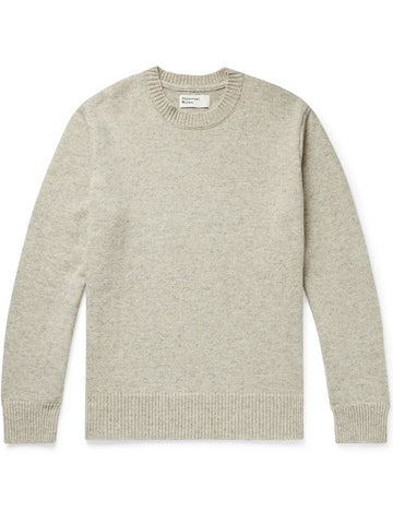Universal Works Recycled Wool Sweater in Natural