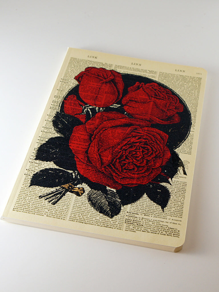 We Act Red Roses Dictionary Art Notebook