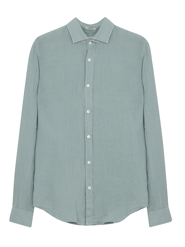 Hartford Sammy Linen Shirt in Sage