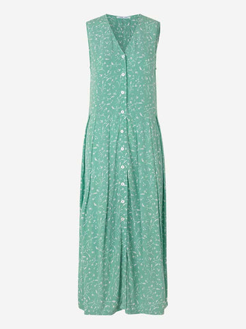 Samsoe Samsoe Cinda Dress in Feuilles Menthe