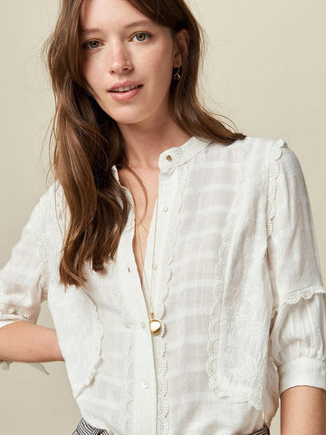 Sessun San Lorenzo Blouse in Cream