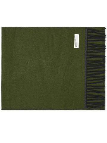 Universal Works Double Side Scarf in Olive & Charcoal