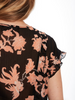 Maison Scotch Floral Ruffle Top